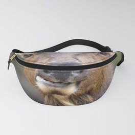 Watercolor Elk Cow 5 Fanny Pack
