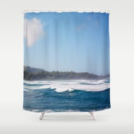 Fabled North Shore of Oahu Shower Curtain