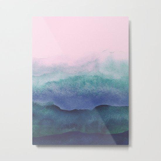 Pastel watercolor gradient (everyday 2/365) Metal Print