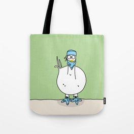 Eglantine la poule (the hen) dressed up as a surgeon Tote Bag