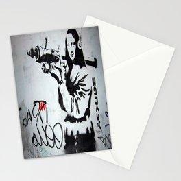 Bansky Mona Lisa Boozoka Stationery Cards