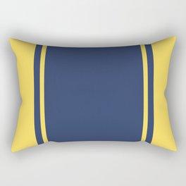 Yellow and Blue Pattern Rectangular Pillow