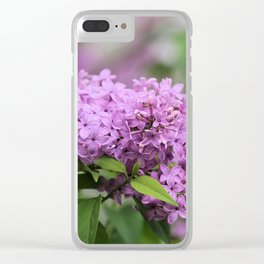 Lilac Bouquets Clear iPhone Case