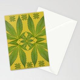 Marijuana Leaf Pattern Stationery Cards