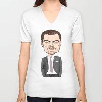 leonardo dicaprio V-neck T-shirts featuring Leonardo DiCaprio by drawgood