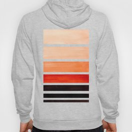 Brown Minimalist Watercolor Mid Century Staggered Stripes Rothko Color Block Geometric Art Hoody