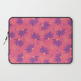 Tropical Flowers Seamless Laptop Sleeve
