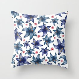 Blooming flowers Throw Pillow