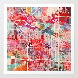 Calumet City map Illinois IL 2 Art Print
