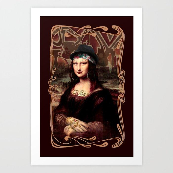 Chicana Mona Lisa Art Print