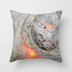 Flaming Seashell 3 Throw Pillow