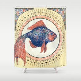 Turkish Gold Fish Shower Curtain
