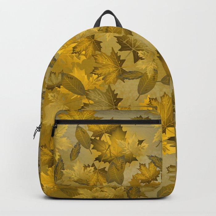 Golden Autumn Leaves Backpack