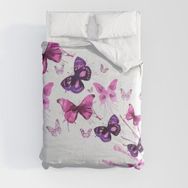 Beautiful Pink and Purple Butterflies Comforters