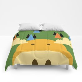 Dark Green Moose Comforters