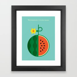Fruit: Watermelon Framed Art Print