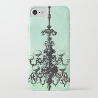 chandelier iPhone & iPod Cases featuring chandelier by jennifer tough