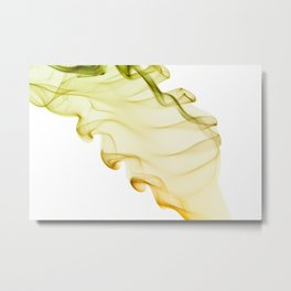 Yellow green twisted smoke abstracts Metal Print