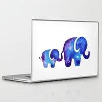 elephants Laptop & iPad Skins featuring Elephants by Lauren Reed Art