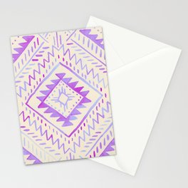 Watercolor Geometric - Peach Violet Stationery Cards