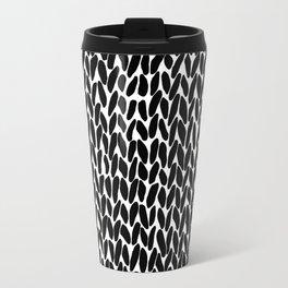 Hand Knitted Black S Travel Mug