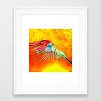 parrot Framed Art Prints featuring Parrot by Ganech joe