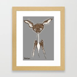 Melting Deer Framed Art Print