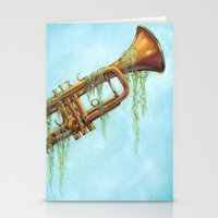 trumpet Stationery Cards featuring Trumpet by dangercat