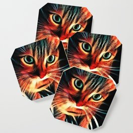 Cheshire Stripes Cat Coaster