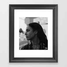Woman in Harlem Framed Art Print