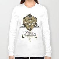 zelda Long Sleeve T-shirts featuring Zelda v89 by Victor Berbel