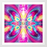 The Galactic Butterfly (Hunab Ku) Art Print