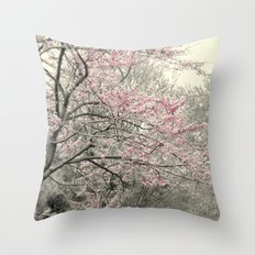 Pleasantville (Redbud Trees) Throw Pillow