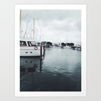 Boats and Water Art Print