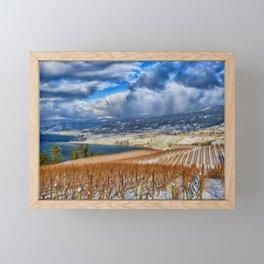 Okanagan Valley Winter Vineyard Framed Mini Art Print
