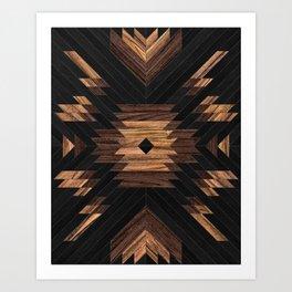 Urban Tribal Pattern No.7 - Aztec - Wood Kunstdrucke