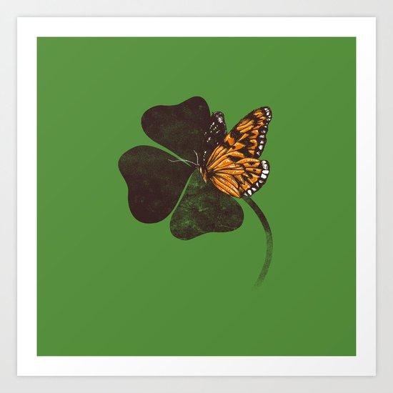 By Chance - Green Art Print