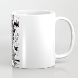 Seattle Illustrated Map in Black and White - Single Print Coffee Mug