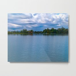 Sailing boats harbor Metal Print