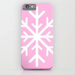 Snowflake (White & Pink) iPhone Case