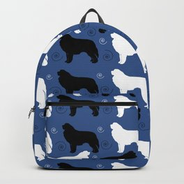Newfie and Pyrenees Pattern Backpack