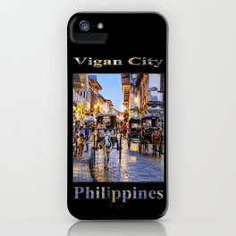 Rush Hour in Vigan City (on black) iPhone Case