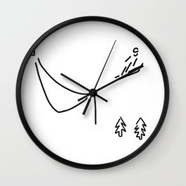 ski jumper digs ski jumping fly Wall Clock