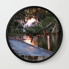 Shaw River Flooded Sunset Wall Clock