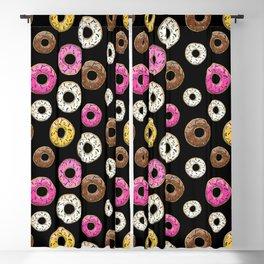 Funfetti Donuts - Black Blackout Curtain