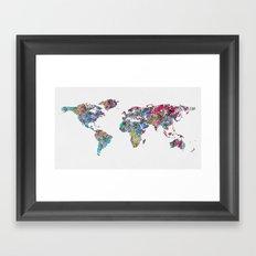 World of Leaves Framed Art Print
