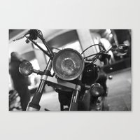motorcycle Canvas Prints featuring Motorcycle by James Tamim