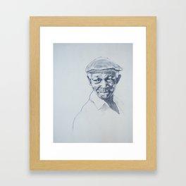 Ibrahim Ferrer de mi corazón Framed Art Print