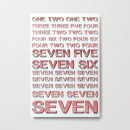 Monica teaches Chandler 7 erogenous zones in F.R.I.E.N.D.S. Metal Print