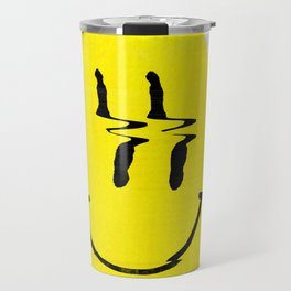 Smiley Glitch Travel Mug